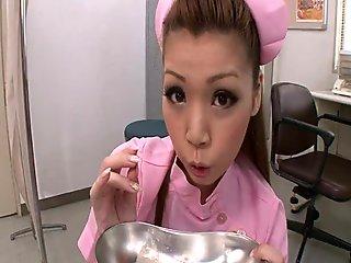 On Her Knees Ayumi Kobayashi Gives A POV Blowjob