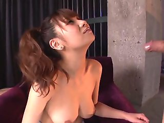 Busty Natsuki Shino gets a big load - More at Slurpjp.com